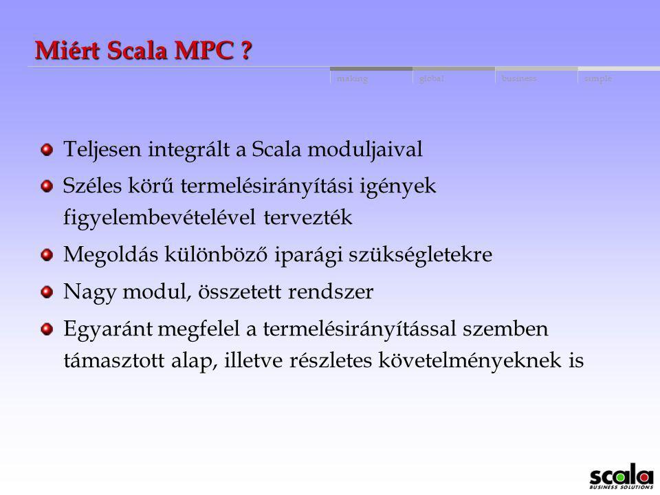 Miért Scala MPC Teljesen integrált a Scala moduljaival