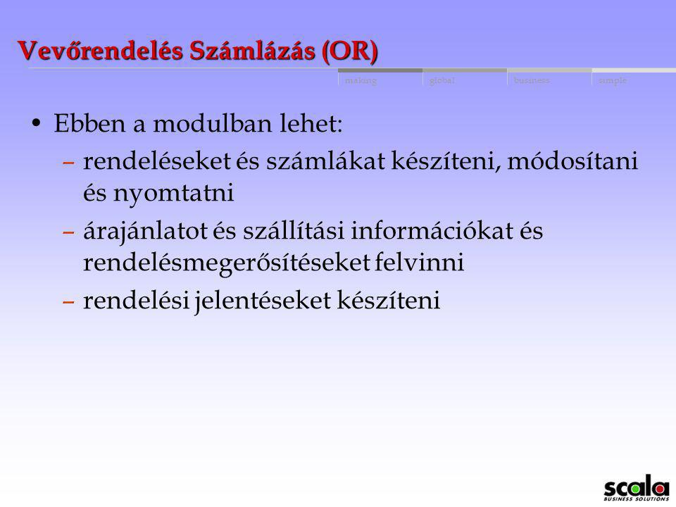 Vevőrendelés Számlázás (OR)