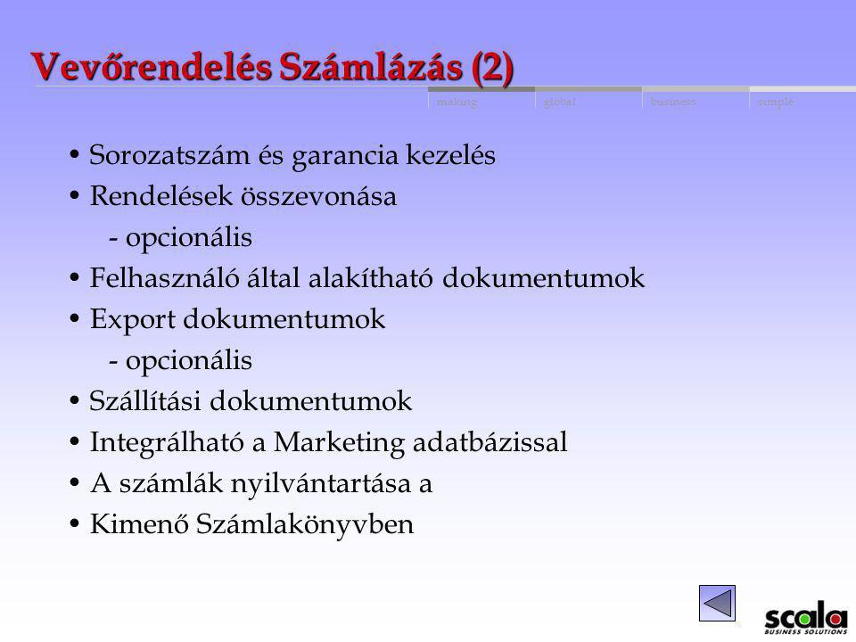 Vevőrendelés Számlázás (2)