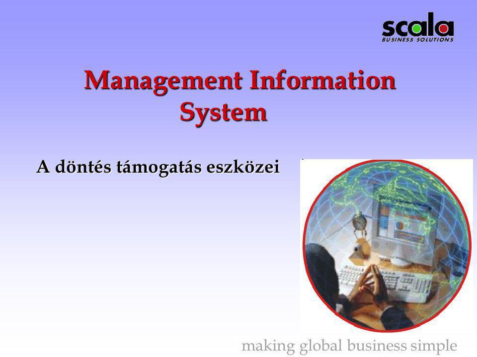 Management Information System A döntés támogatás eszközei