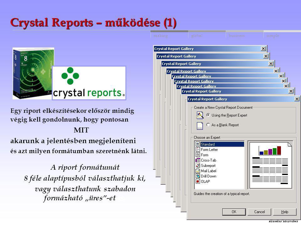Crystal Reports – működése (1)