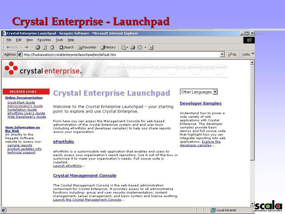 Crystal Enterprise - Launchpad