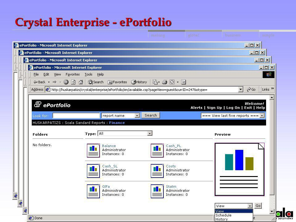 Crystal Enterprise - ePortfolio