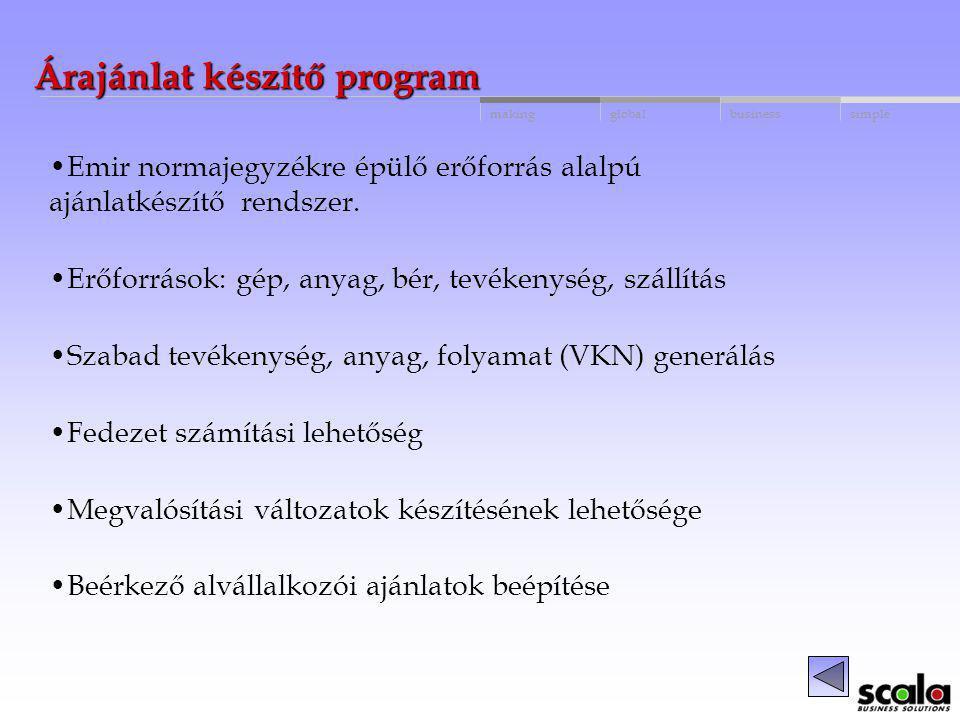 Árajánlat készítő program