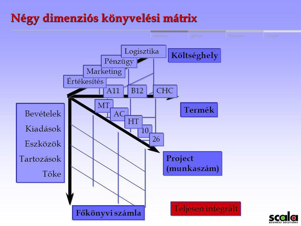 Négy dimenziós könyvelési mátrix