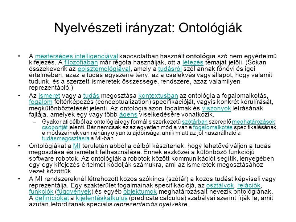 Nyelvészeti irányzat: Ontológiák