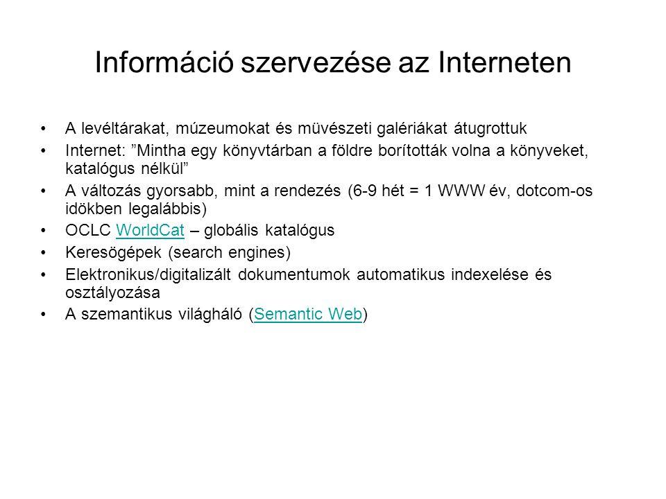 Információ szervezése az Interneten