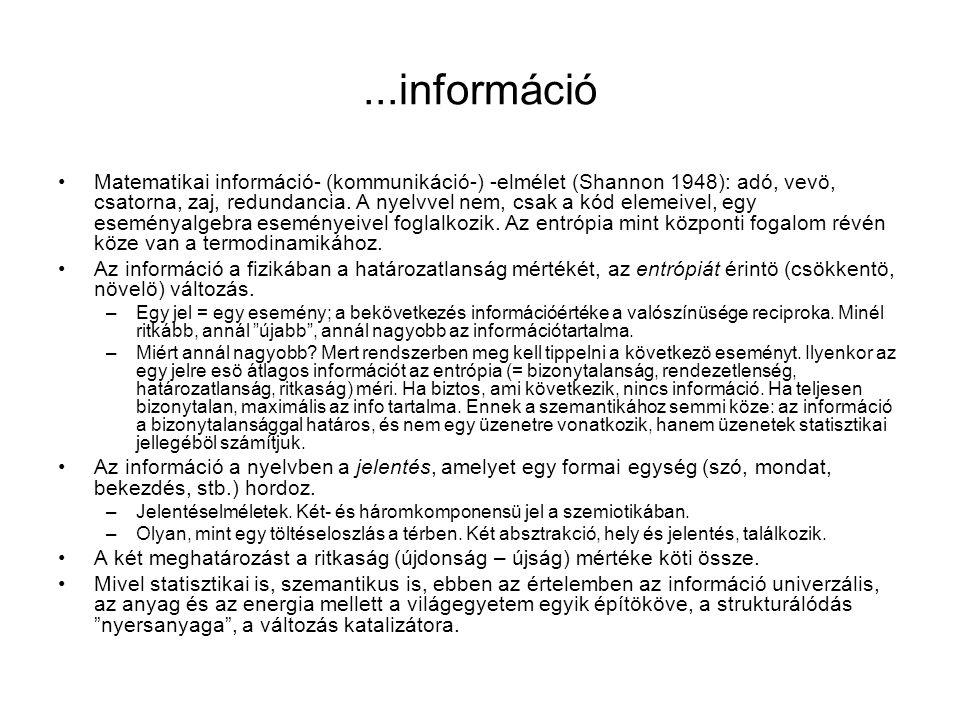 ...információ