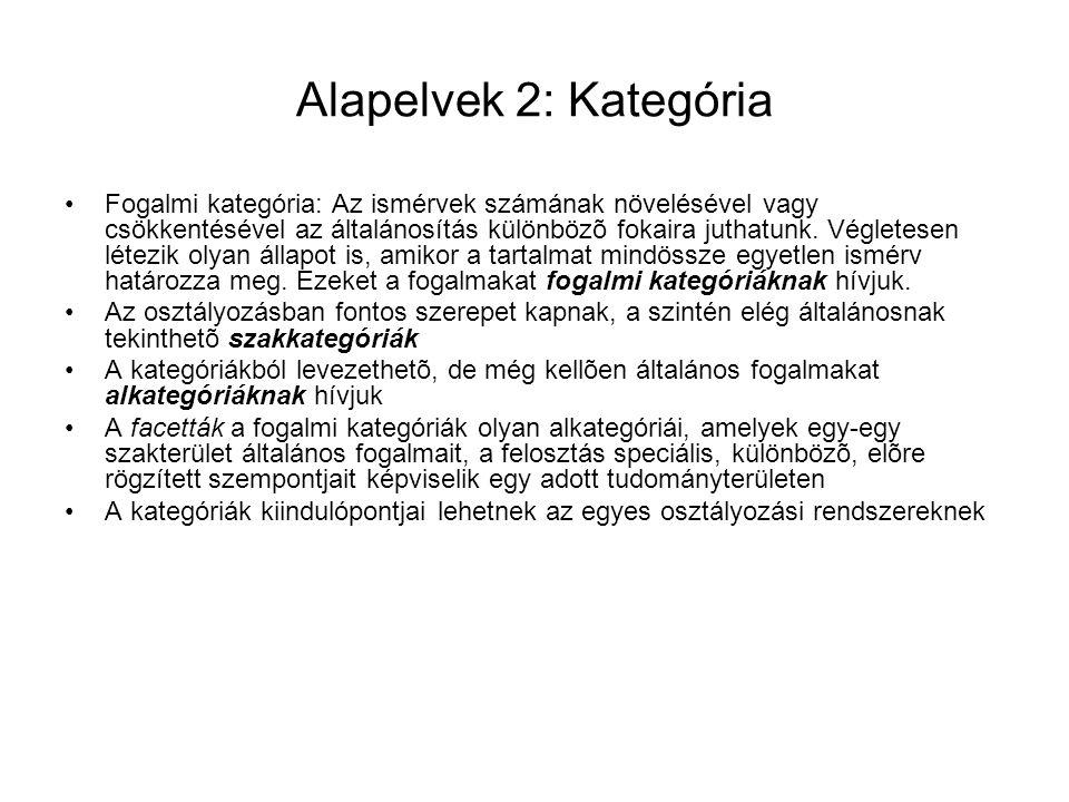 Alapelvek 2: Kategória
