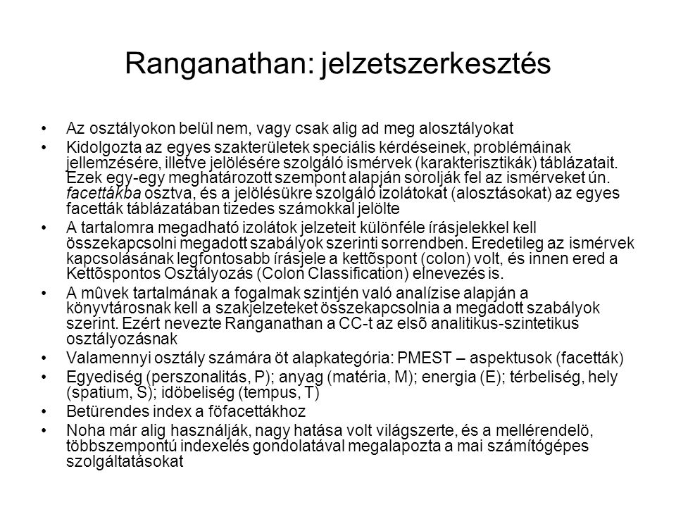 Ranganathan: jelzetszerkesztés