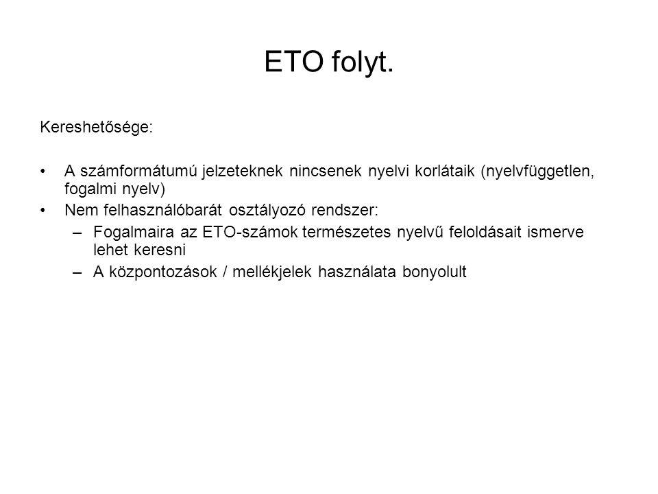 ETO folyt. Kereshetősége: