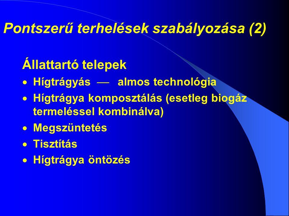 Pontszerű terhelések szabályozása (2)
