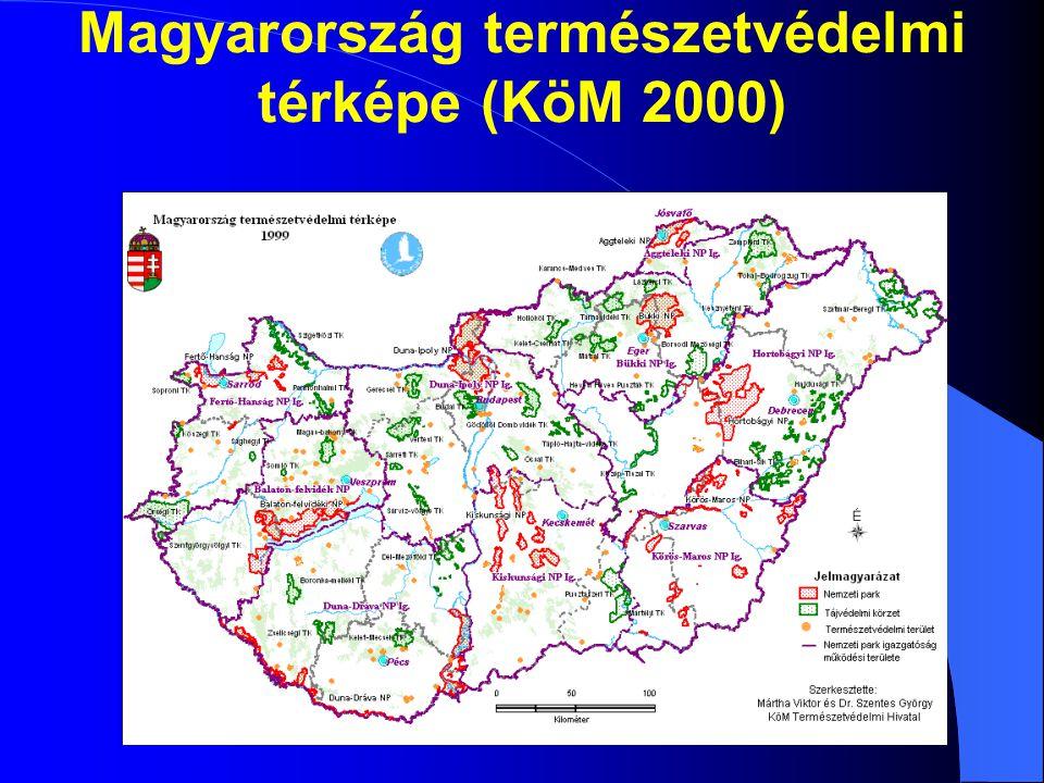 Magyarország természetvédelmi térképe (KöM 2000)