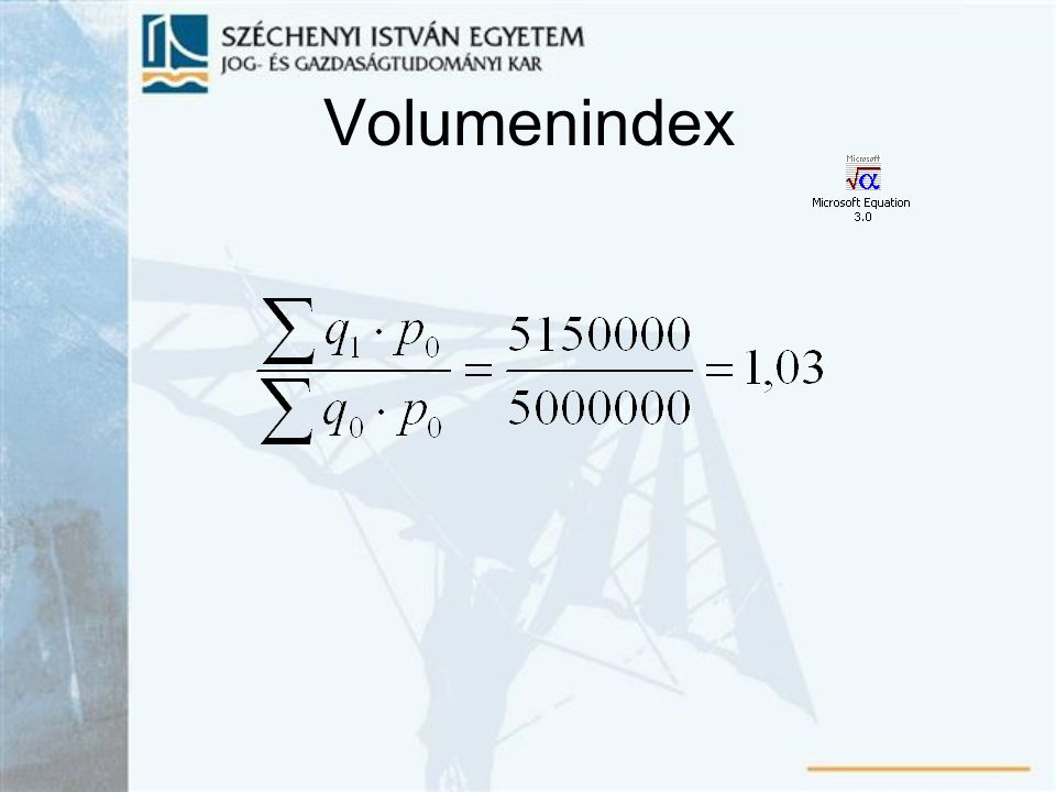 Volumenindex