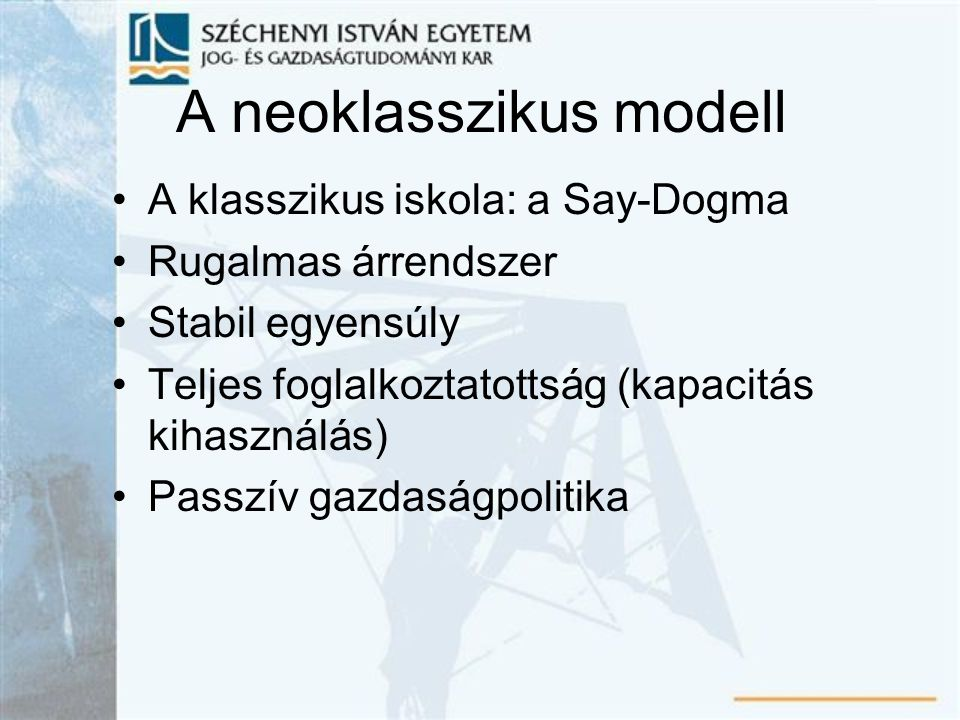 A neoklasszikus modell