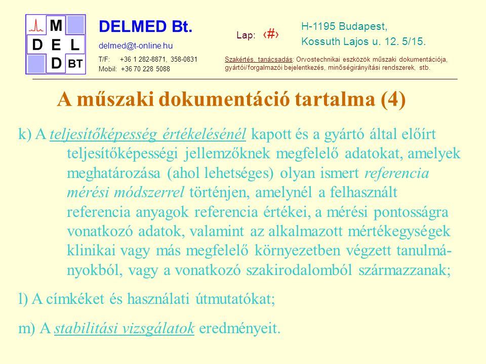 A műszaki dokumentáció tartalma (4)