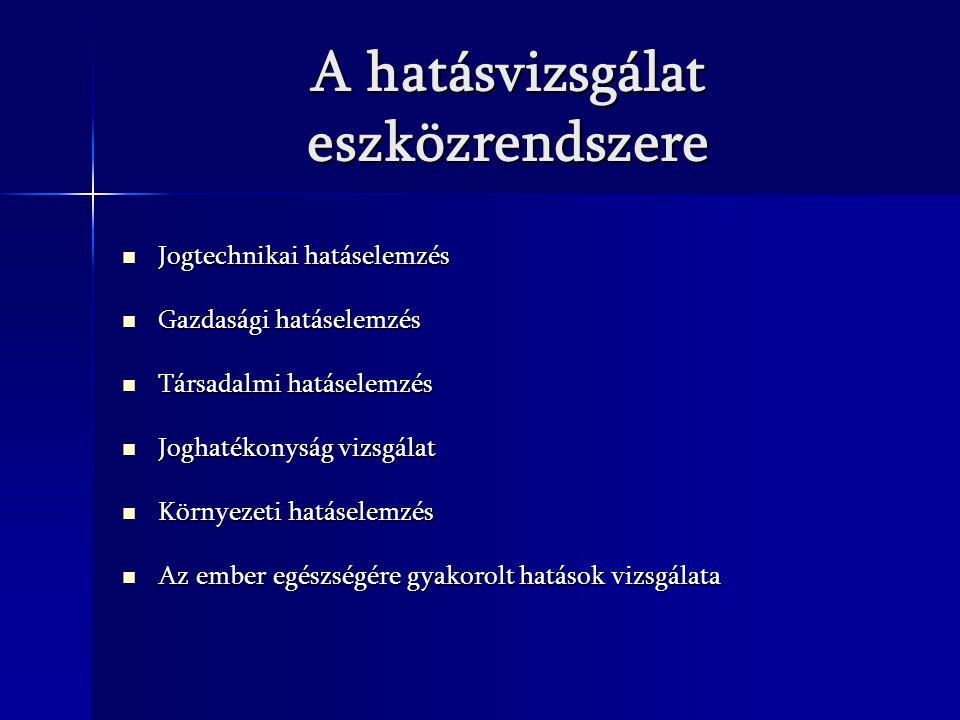 A hatásvizsgálat eszközrendszere