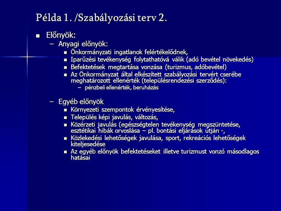 Példa 1. /Szabályozási terv 2.