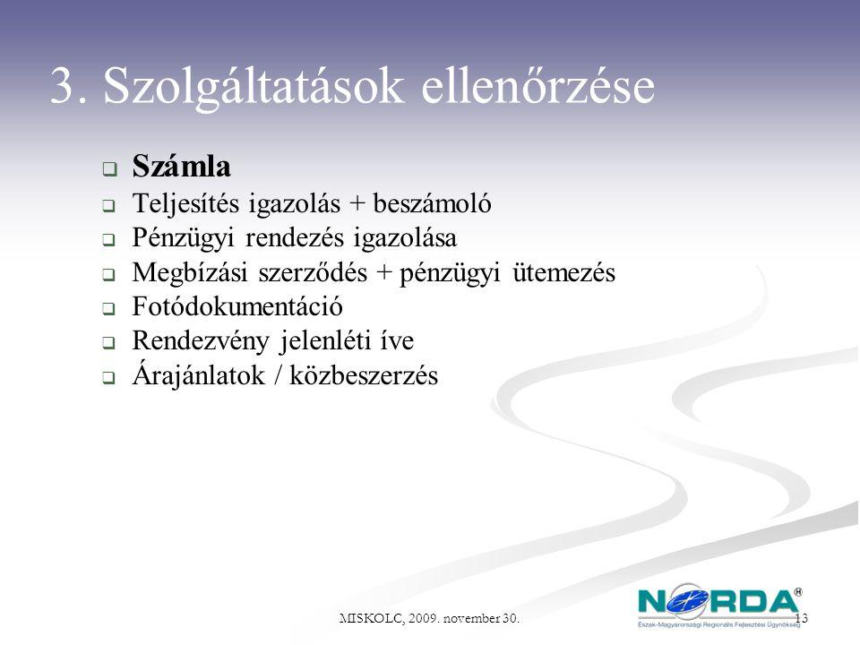 3. Szolgáltatások ellenőrzése