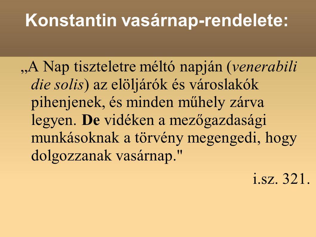 Konstantin vasárnap-rendelete: