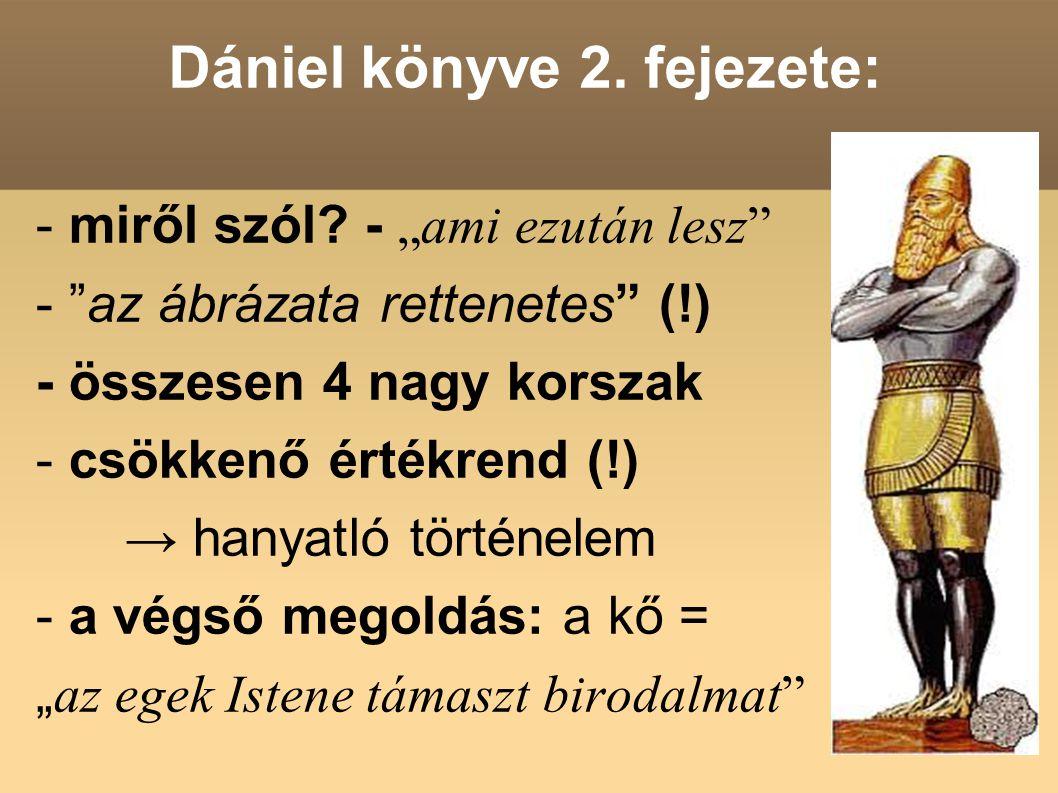 Dániel könyve 2. fejezete: