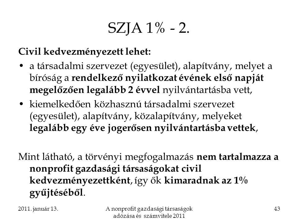 A nonprofit gazdasági társaságok adózása és számvitele 2011