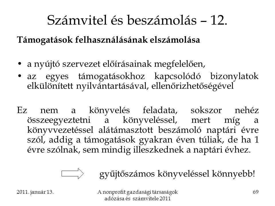Számvitel és beszámolás – 12.