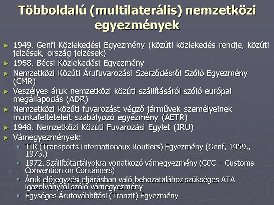 Többoldalú (multilaterális) nemzetközi egyezmények
