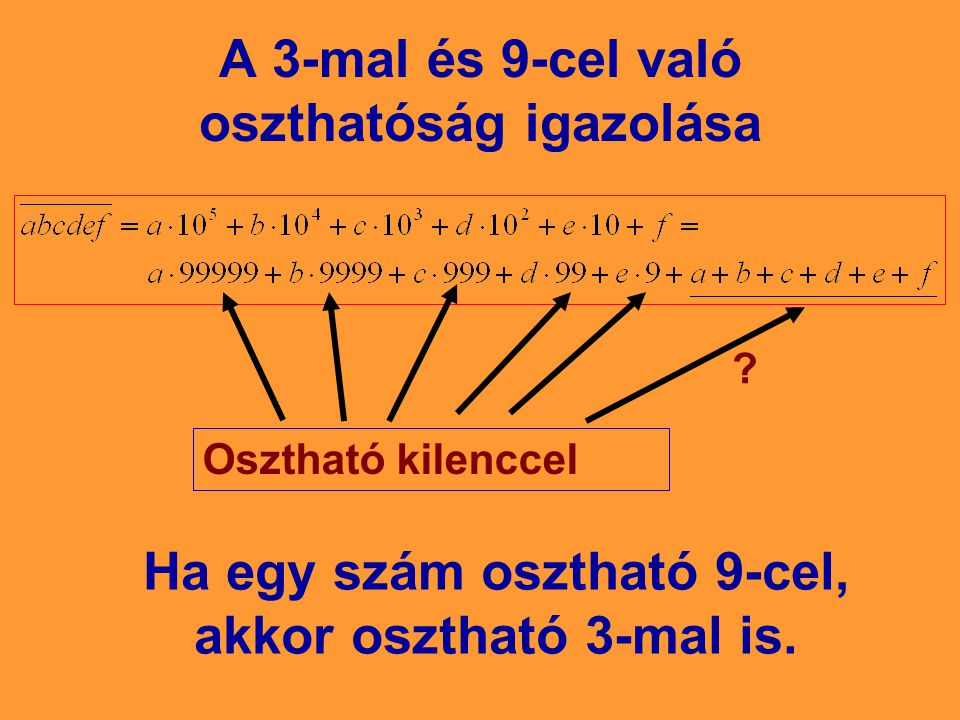 A 3-mal és 9-cel való oszthatóság igazolása