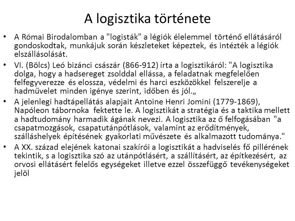 A logisztika története
