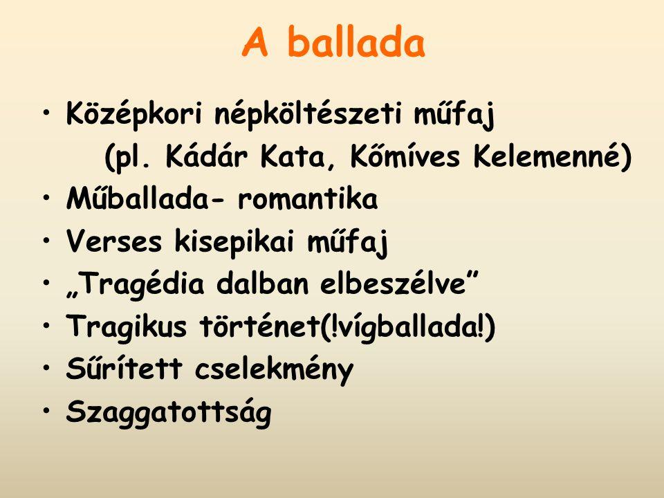 A ballada Középkori népköltészeti műfaj