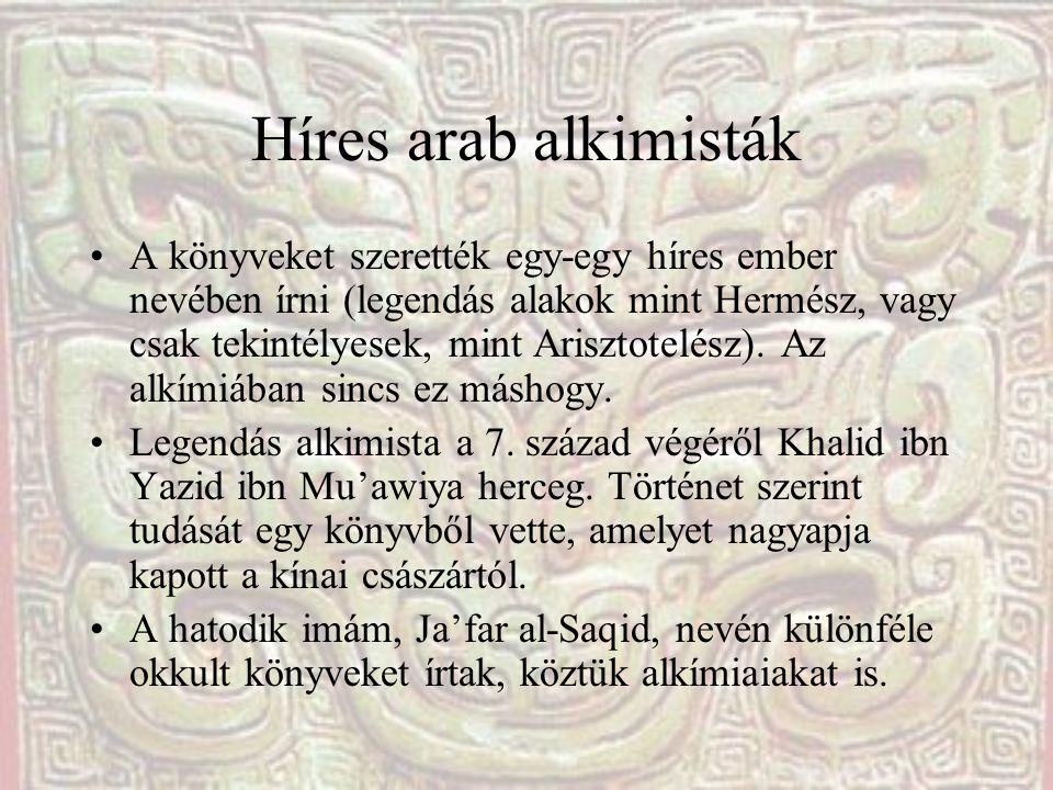 Híres arab alkimisták