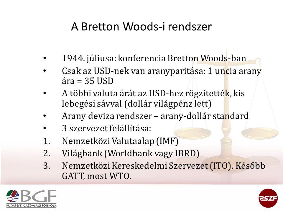 A Bretton Woods-i rendszer