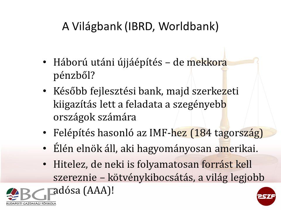 A Világbank (IBRD, Worldbank)