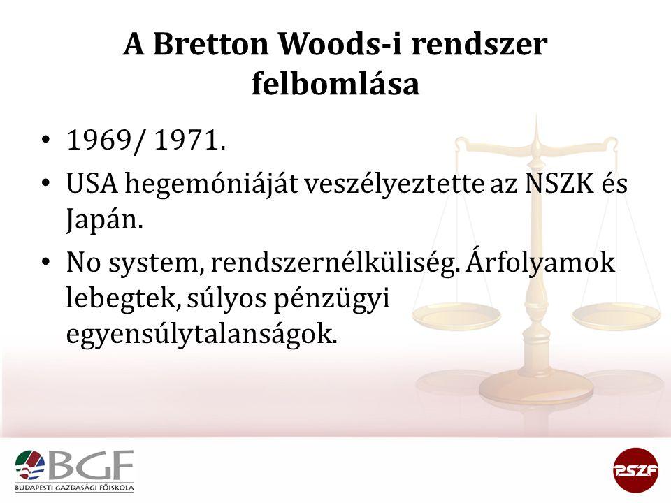 A Bretton Woods-i rendszer felbomlása