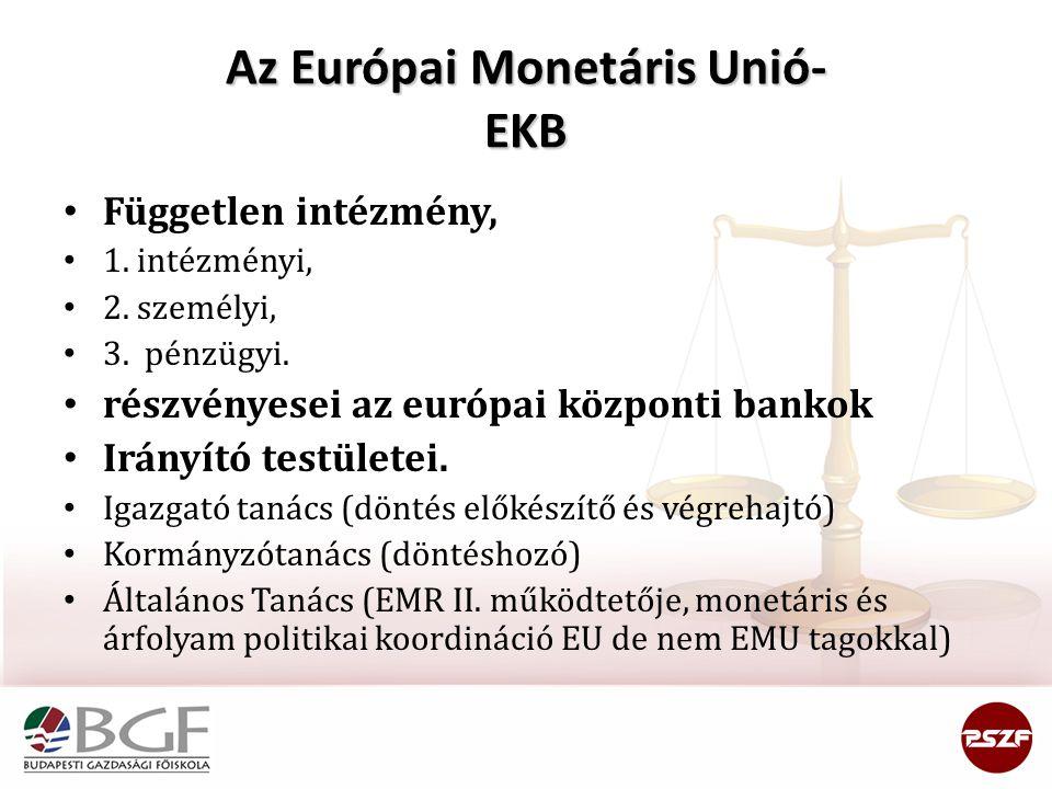 Az Európai Monetáris Unió- EKB