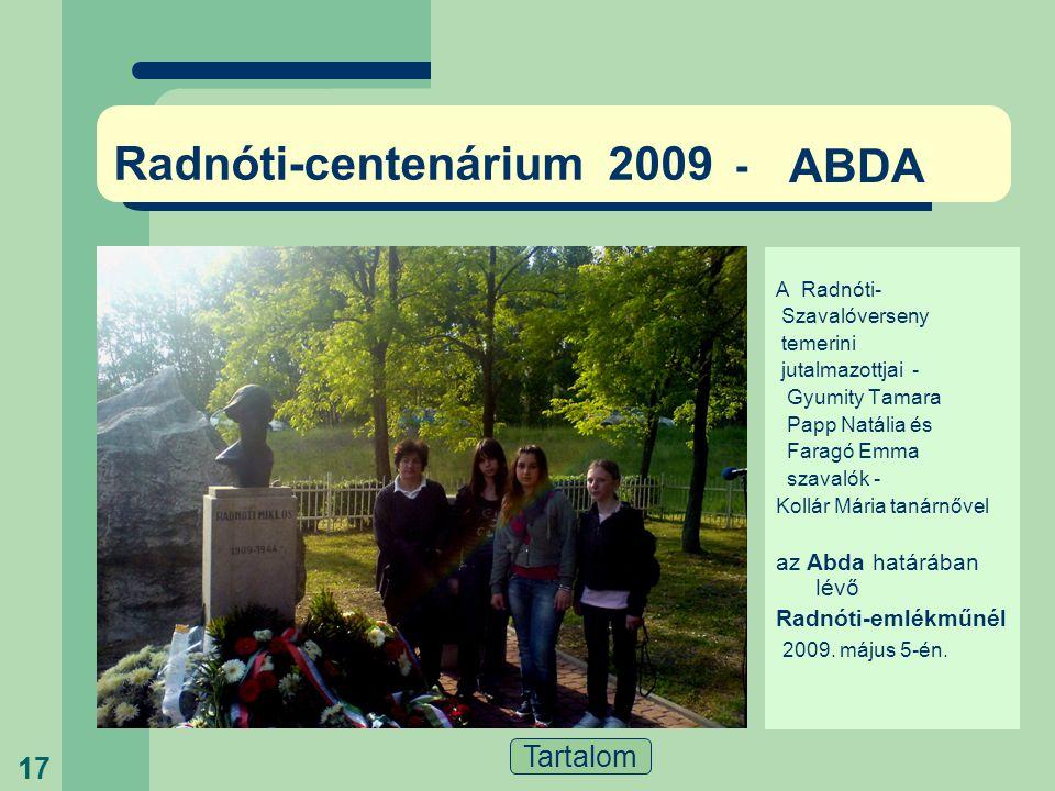 Radnóti-centenárium 2009 -