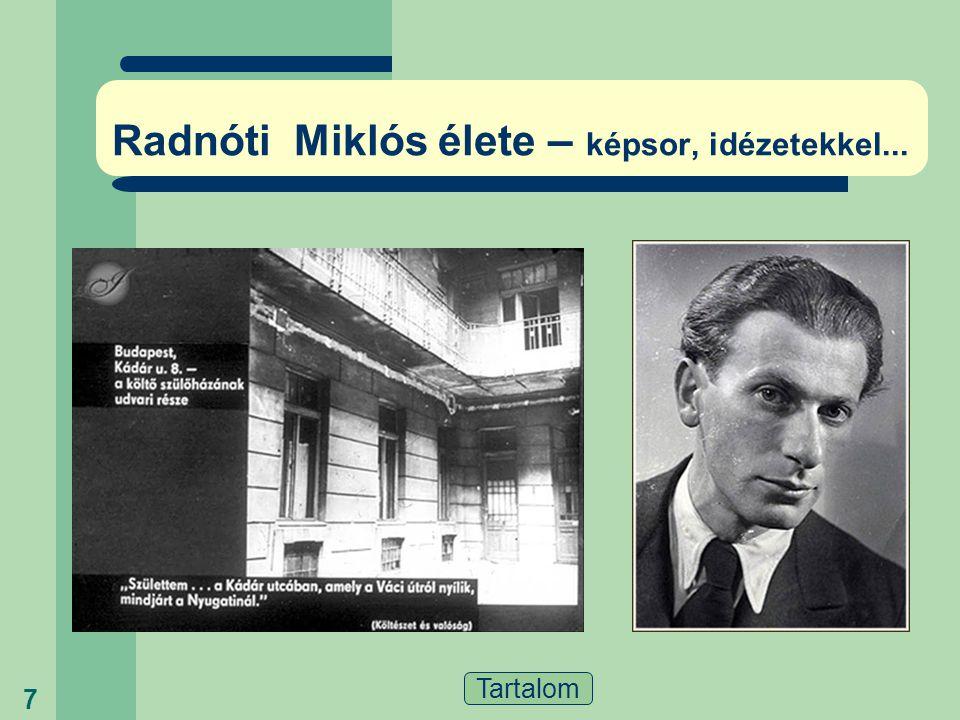 Radnóti Miklós élete – képsor, idézetekkel...