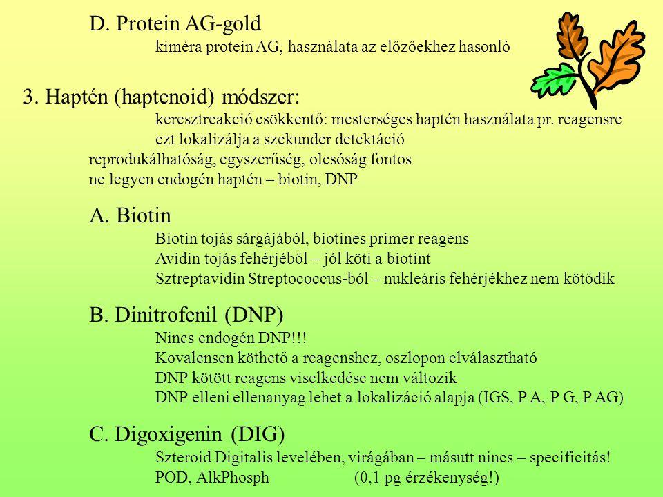 3. Haptén (haptenoid) módszer: