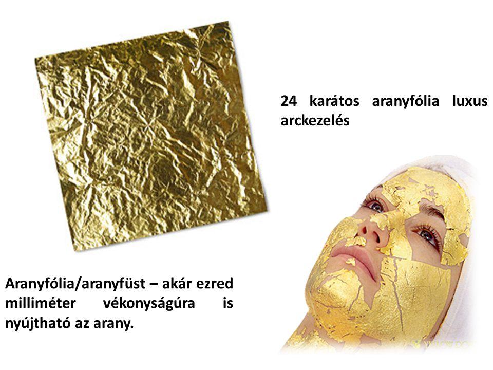 24 karátos aranyfólia luxus arckezelés