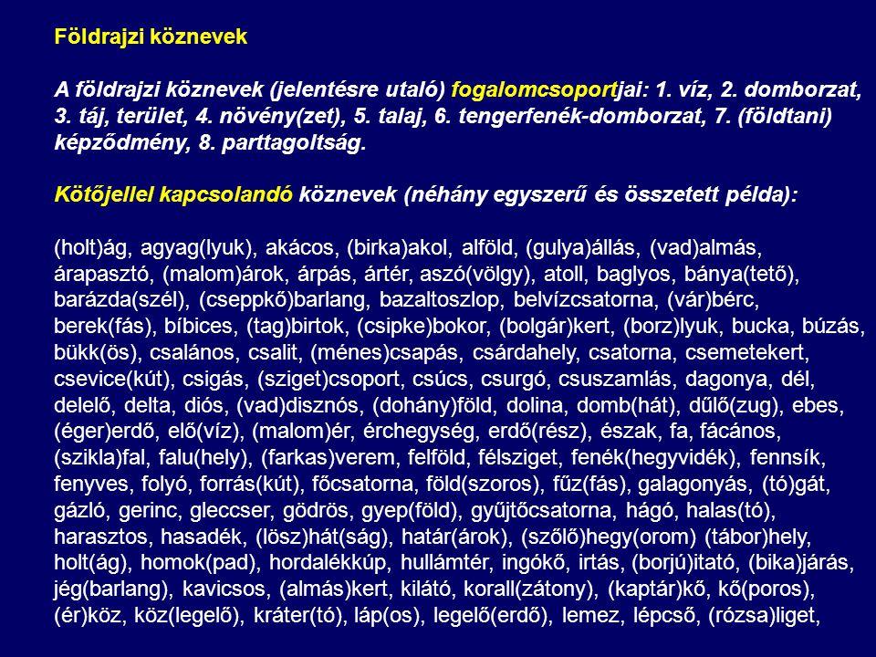Földrajzi köznevek