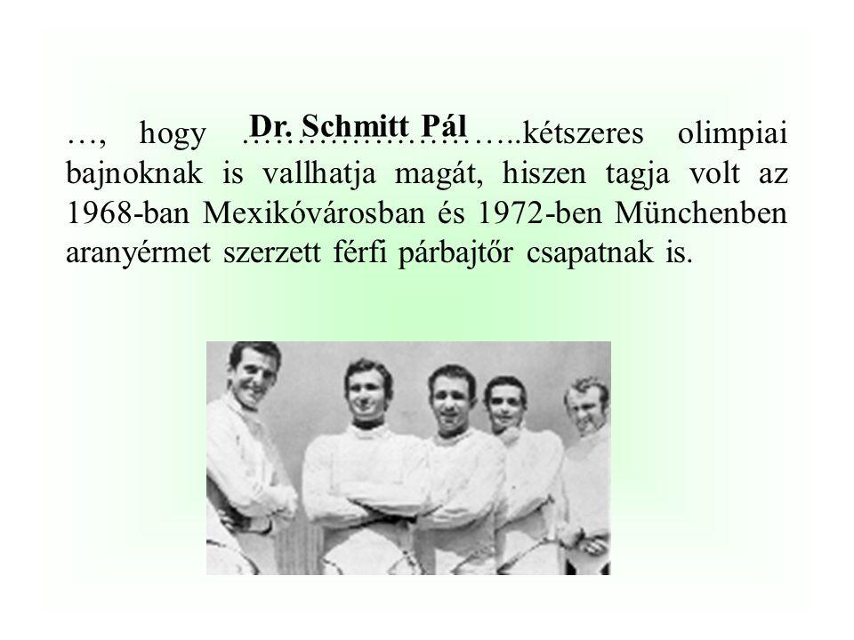 Dr. Schmitt Pál