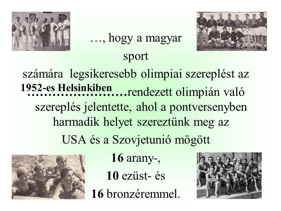 számára legsikeresebb olimpiai szereplést az