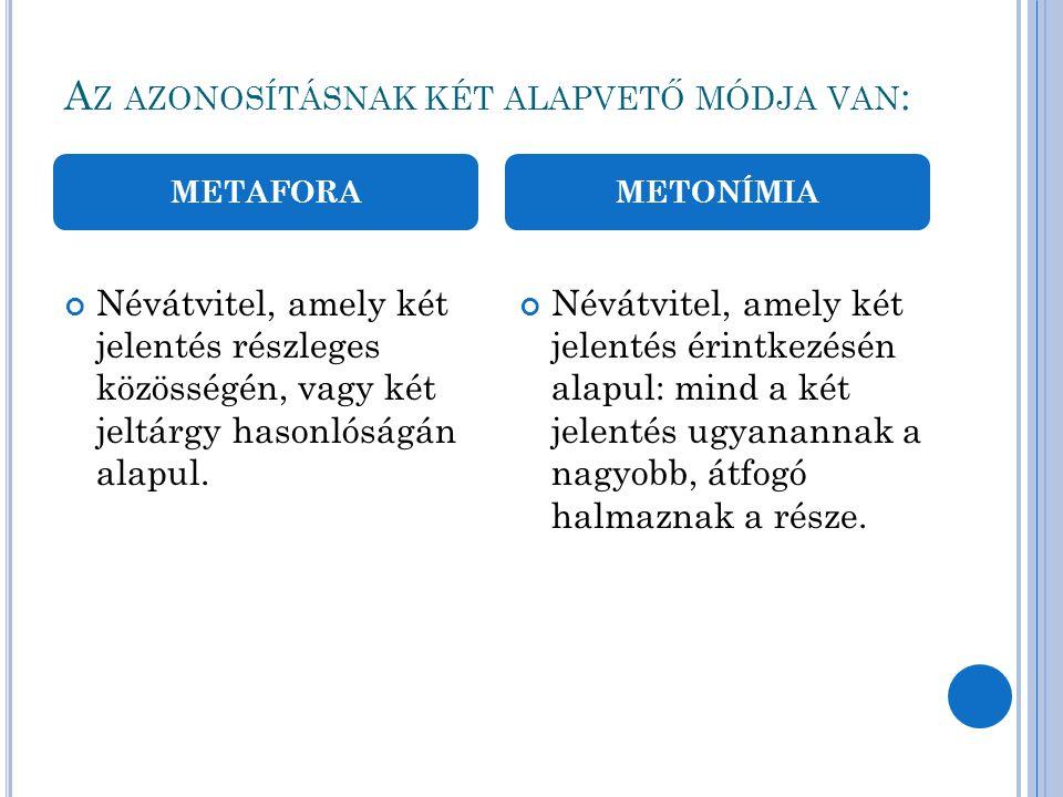 Az azonosításnak két alapvető módja van: