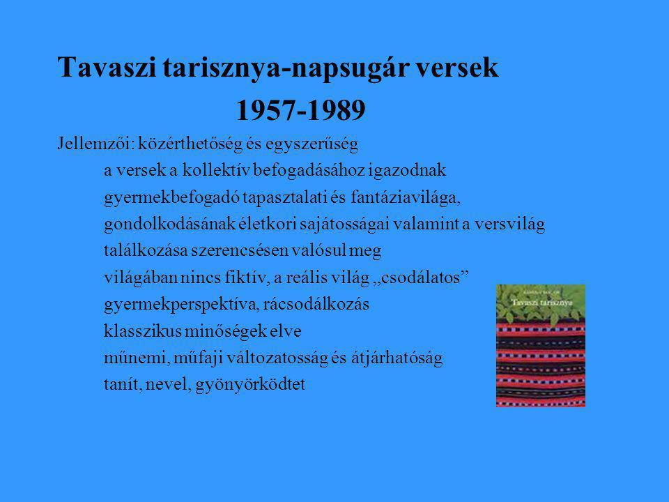 Tavaszi tarisznya-napsugár versek 1957-1989