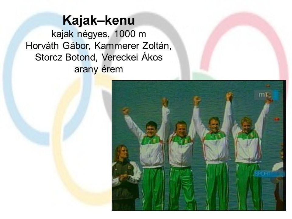 Kajak–kenu kajak négyes, 1000 m Horváth Gábor, Kammerer Zoltán,