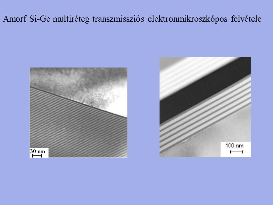 Amorf Si-Ge multiréteg transzmissziós elektronmikroszkópos felvétele
