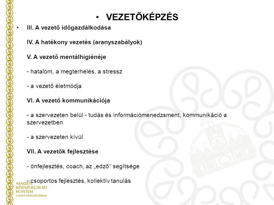 VEZETŐKÉPZÉS