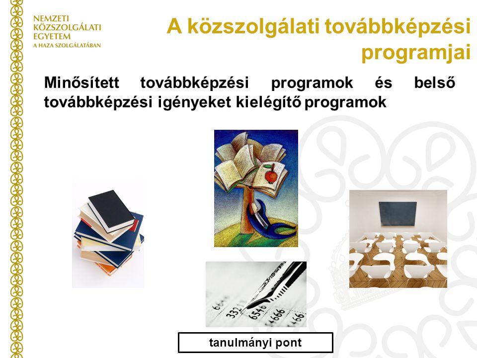 A közszolgálati továbbképzési programjai