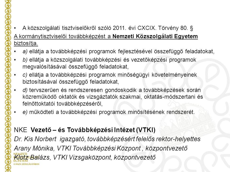 NKE Vezető – és Továbbképzési Intézet (VTKI)